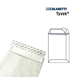 100 buste a sacco tyvek 305x406mm 55gr c/strip
