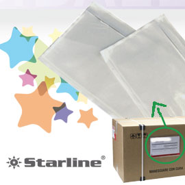 100 buste portadocumenti adesiva 230x125mm starline