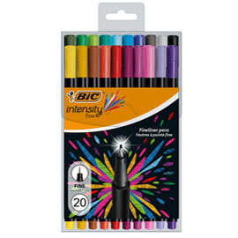 Astuccio 20 fineliner intensity 0,8mm colori assortiti bic