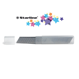 Blister 10 lame 18mm universali per cutter starline