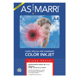 Carta inkjet a4 180gr 50fg color photo lucida 08103 marri