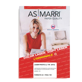 Carta laser a4 170gr 100fg photo lucida double-face 8972 as marri