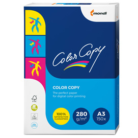 Carta bianca color copy a3 297x420mm 280gr 150fg mondi