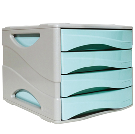 Cassettiera keep colour pastel azzurro arda