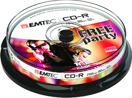 Cd-r emtec 80min/700mb 52x spindle (kit 10pz)