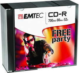 Cd-r emtec 80min/700mb 52x slim case (kit 10pz)