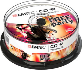 Cd-r emtec 80min/700mb 52x spindle (kit 25pz)