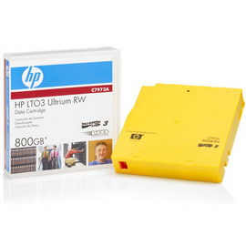 Cartuccia dati hp lto 3 ultrium rw 800gb