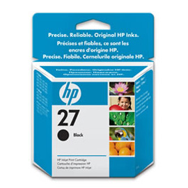 Cartuccia a getto d'inchiostro hp n.27 nero 10ml