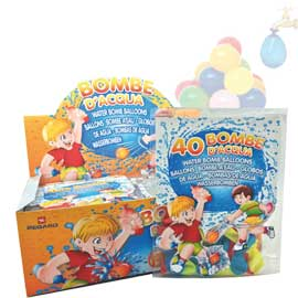 Display 48 buste da 40 palloncini bombe d'acqua