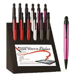 DISPLAY 12 PENNE SFERA ONE TOUCH STYLUS COL. ASSORTITI MONTEVERDE