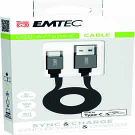 Emtec cavo usb-a to type c t700