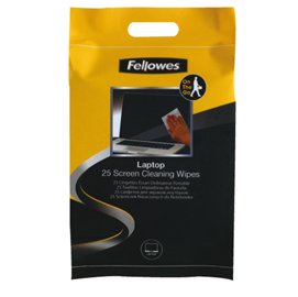 Pack 25 salviette pulisci schermo fellowes
